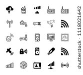 wireless icon. collection of 25 ...   Shutterstock .eps vector #1118021642