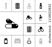 pharmaceutical icon. collection ...   Shutterstock .eps vector #1118023832