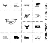 shipment icon. collection of 13 ... | Shutterstock .eps vector #1118023838