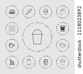 bucket icon. collection of 13... | Shutterstock .eps vector #1118023892