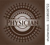 physician retro style wooden... | Shutterstock .eps vector #1118028722