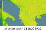 mean diurnal temperature... | Shutterstock . vector #1118028932