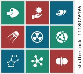 atom icon. collection of 9 atom ...   Shutterstock .eps vector #1118029496