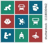 toddler icon. collection of 9... | Shutterstock .eps vector #1118030462
