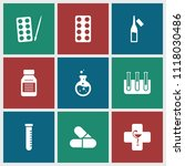pharmaceutical icon. collection ...   Shutterstock .eps vector #1118030486