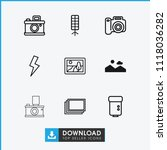 photograph icon. collection of...   Shutterstock .eps vector #1118036282