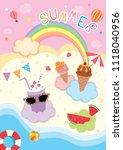 illustration vector of summer...   Shutterstock .eps vector #1118040956