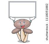 up board honey agaric mushroom... | Shutterstock .eps vector #1118051882