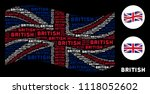 waving great britain official... | Shutterstock .eps vector #1118052602