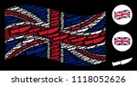 waving uk flag composition... | Shutterstock .eps vector #1118052626