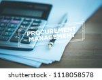 procurement management concept | Shutterstock . vector #1118058578
