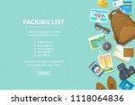 packing list  travel planning....   Shutterstock .eps vector #1118064836