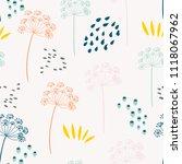 vector organic floral seamless...   Shutterstock .eps vector #1118067962