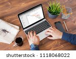 man using project management... | Shutterstock . vector #1118068022