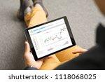 man trading with digital...   Shutterstock . vector #1118068025