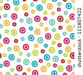 seamless pattern  polka dot... | Shutterstock .eps vector #111807422