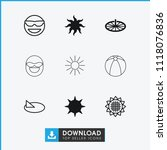 sunny icon. collection of 9... | Shutterstock .eps vector #1118076836