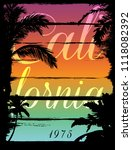 sunset at tropical beach los... | Shutterstock .eps vector #1118082392