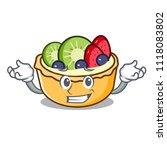 grinning fruit tart character... | Shutterstock .eps vector #1118083802