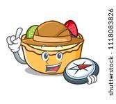 explorer fruit tart mascot... | Shutterstock .eps vector #1118083826
