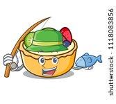 fishing fruit tart mascot... | Shutterstock .eps vector #1118083856