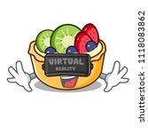 virtual reality fruit tart... | Shutterstock .eps vector #1118083862