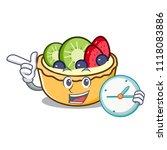with clock fruit tart character ... | Shutterstock .eps vector #1118083886