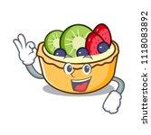 okay fruit tart character... | Shutterstock .eps vector #1118083892