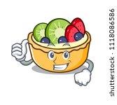 thumbs up fruit tart character... | Shutterstock .eps vector #1118086586