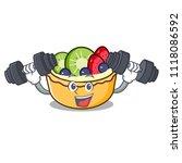 fitness fruit tart character... | Shutterstock .eps vector #1118086592