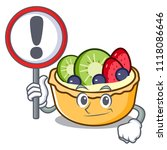 with sign fruit tart character... | Shutterstock .eps vector #1118086646