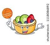 with basketball fruit tart... | Shutterstock .eps vector #1118086892