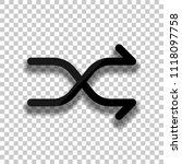 crossed simple arrows. linear ...