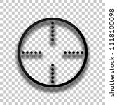 simple target icon. black glass ... | Shutterstock .eps vector #1118100098