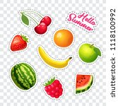 ripe fruits and berries. vector ... | Shutterstock .eps vector #1118100992