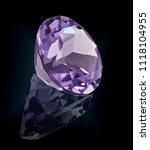 amethist gem stone isolated on...   Shutterstock . vector #1118104955