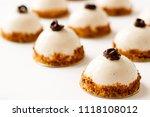 mousse dessert with vanilla... | Shutterstock . vector #1118108012