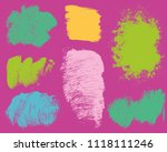 set of colorful ink vector... | Shutterstock .eps vector #1118111246