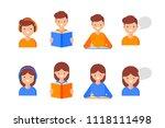 reading  writing  speaking ... | Shutterstock .eps vector #1118111498