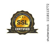 ssl certified certificate 100 ...   Shutterstock .eps vector #1118113772