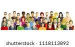 people participate group... | Shutterstock .eps vector #1118113892