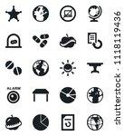set of vector isolated black... | Shutterstock .eps vector #1118119436