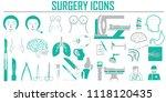 surgery  plastic vector icon... | Shutterstock .eps vector #1118120435