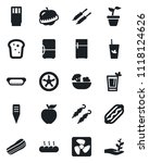 set of vector isolated black... | Shutterstock .eps vector #1118124626