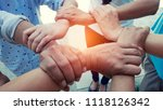 group of new generation hands... | Shutterstock . vector #1118126342