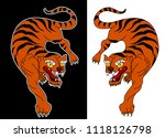 tiger sticker tattoo design... | Shutterstock .eps vector #1118126798