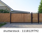 Automatic Wooden Gate In A...