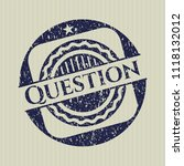 blue question distress rubber... | Shutterstock .eps vector #1118132012