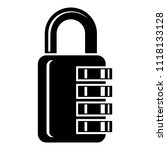 combination lock icon. simple... | Shutterstock . vector #1118133128