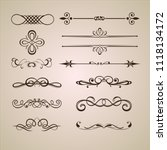 set of calligraphic frames ... | Shutterstock .eps vector #1118134172